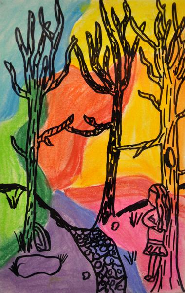 Zone scolaire Entre les branches oeuvre 4